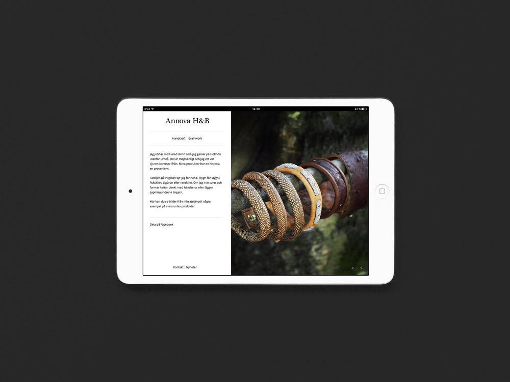 Webbdesign och produktfoto för Annova H&B