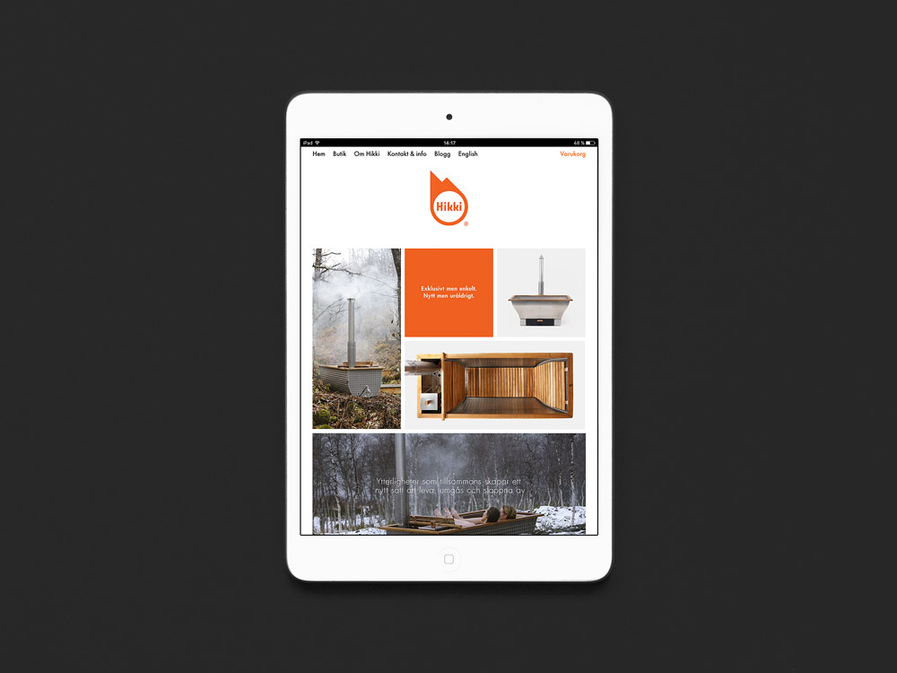 Web design for Hikki, Umeå