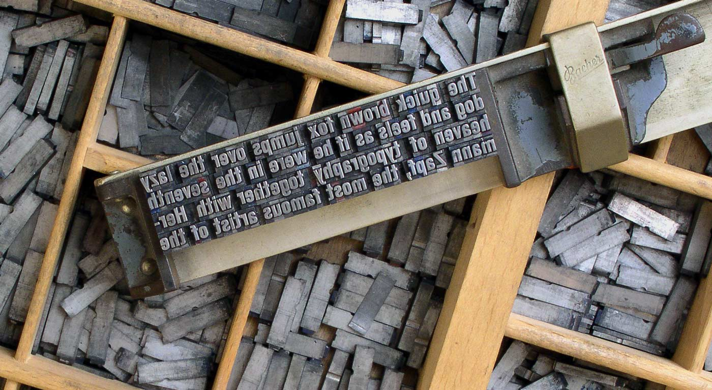 Movable type in a letter holder
